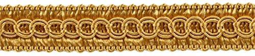 DÉCOPRO 49.4 Meter Package of 13mm Basic Trim Decorative Gimp Braid, Style# 0050SG Color: Gold - C4 (164 Ft / 54 Yards)