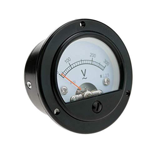 BeMatik - Medidor eléctrico analógico de Panel Redondo 52mm 300V voltímetro