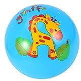 VOSAREA Balón de fútbol para niños, para la playa, para el tiempo libre, para interior y exterior, pelota de balonmano para niños, 9 pulgadas, color azul
