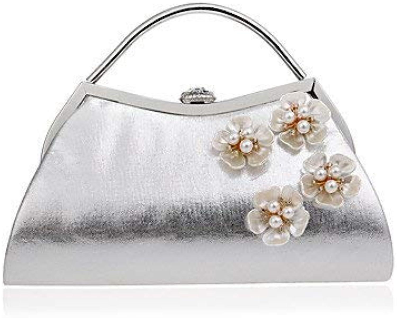 Ladies Handbag Woman of high-Grade fine Pearl Hand Bag Dinner Ladies Handbags (color   gold)