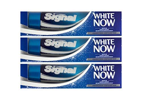 3x Signal Zahnpasta White Now, 75 ml Zahncreme Zahnweiss