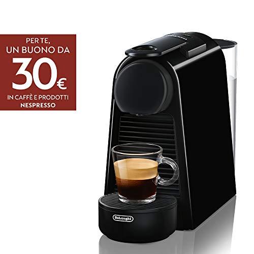 De\'Longhi En85.B Macchine per Il caffè a Sistema Nespresso Essenza, 1370 W, 0.6 milliliters, Plastica, Nero