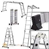 XtremepowerUS Aluminum Multi-Purpose Folding Ladder (12.5' W/Platform)