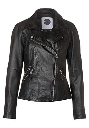 Street One Damen Lederjacke im Biker Style Black 38
