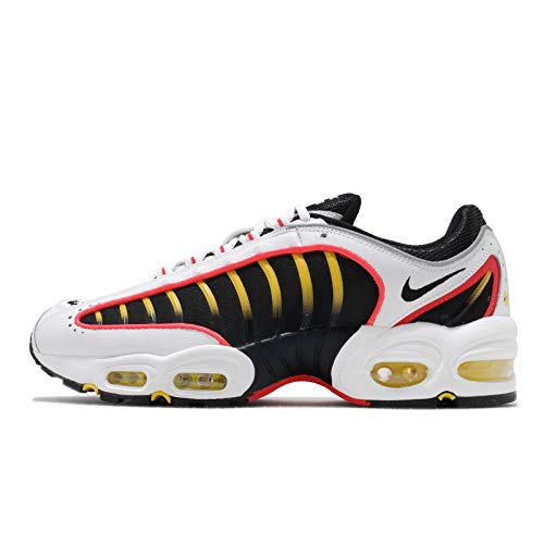 Nike Air MAX Tailwind IV Hombre Running Trainers AQ2567 Sneakers Zapatos (UK 10.5 US 11.5 EU 45.5, Black White Bright Crimson 109)