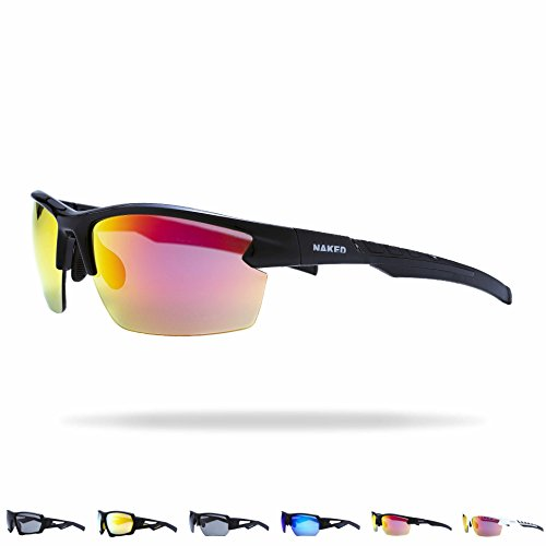 NAKED Optics NAKED Optics Sportbrille Rush (Halfframe Black/Lens Red)