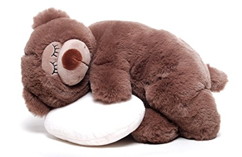 Inware 6484 - Schlafender Bär mit Kissen, Kuscheltier…