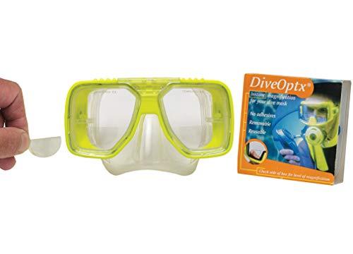Hydrotac Leselinsen Lesehilfe für Tauchmasken Taucherbrille Sonnenbrille DiveOptx LHD +2.50D