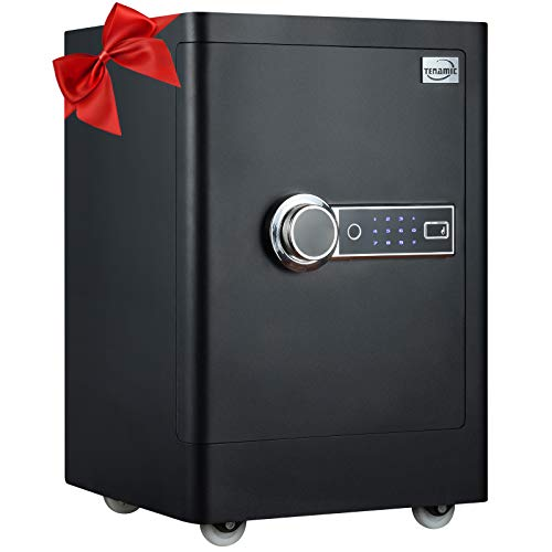 Tenamic Fingerprint Safe Box 2.13 Cubic Feet with Separate Lock Box and Bottom Compartment, Touch...