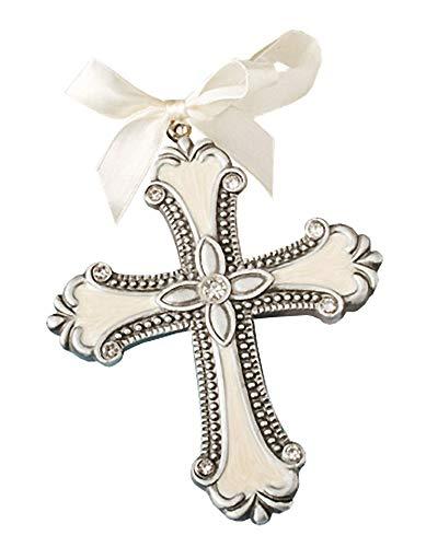 Fashioncraft, Baptism Christening Hanging Ornament Favor, Decorative Cross, Set of 20