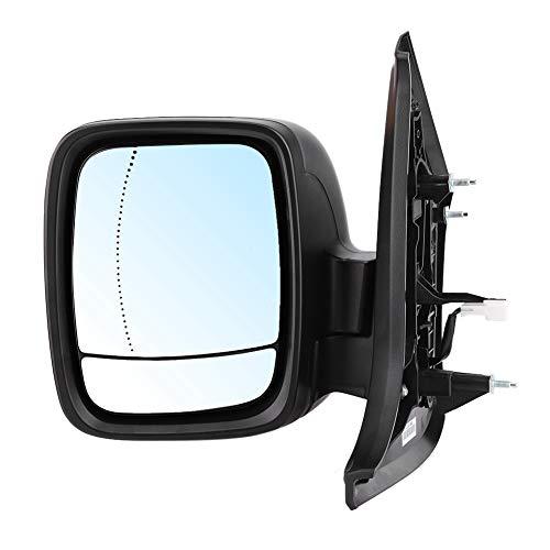 Espejo retrovisor, espejo retrovisor negro eléctrico ABS, lado izquierdo 4422962 apto para Trafic 2014-