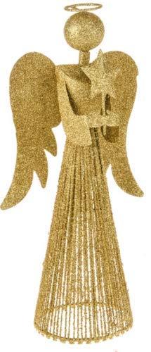 CB Puntale Per Albero Di Natale Alto 33 Cm Oro Fata Angelo Decorazione Cima Ornamenti