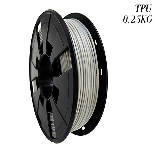 LEE FUNG 1.75mm TPU 3D Printing Filament, Dimensional Accuracy +/- 0.05mm, 0.55 LBS (0.25KG) Spool,1.75 mm 3D Filament for Most 3D Printer & 3D Printing Pen (Grey)
