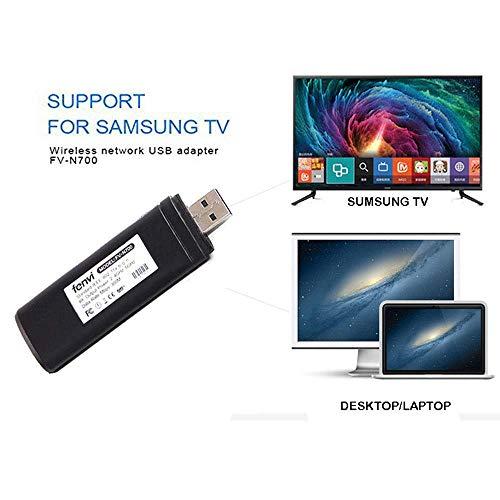 Adattatore Wi-Fi wireless USB TV, Ylinova 300M 802.11 AC 2.4 GHz e 5 GHz Dual-Band di Rete Wireless USB Adattatore WiFi per Samsung Smart TV WIS12ABGNX WIS09ABGN