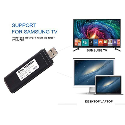 Wireless USB TV Adapter, Ylinova WiFi Display Dongle 2,4GHz und 5GHz Dual-Band WiFi Display Adapter für Samsung Smart TV WIS12ABGNX WIS09ABGN