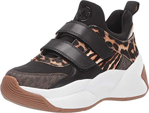 Michael Kors Sneakers Keeley in Pelle Effetto Cavallino E Tessuto - 6.0