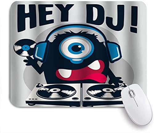PATINISA Mouse Pad Mouse Mat,Hey Dj,Gaming Mouse Pad Custom for Laptop,Computer and PC Home Office Working