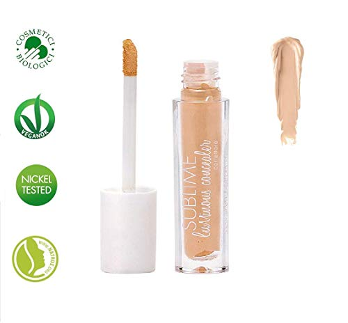 PuroBIO Certified Organic Concealer 01 Second-Skin Effect with Plant Extracts, Hyaluronic Acid and...