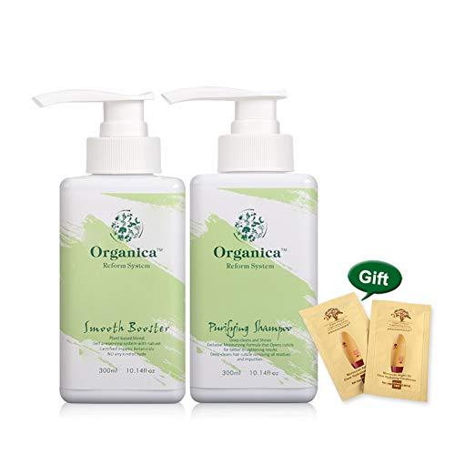 MRmeifa Geruch Jasmin Duft 300Ml Purifying Natural Hair Shampoo + 300Ml Smooth Booster Hydrolysiertes Keratin Haarbehandlungsset