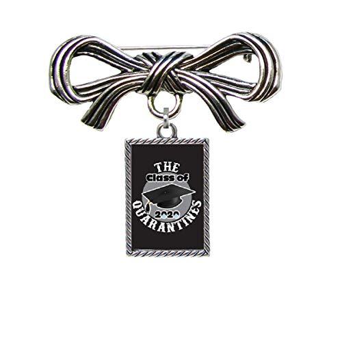 Class of 2020 The Quarantines Ribbon Brooch Pin Vertical Rectangle Jewelry Graduation Senior Gift
