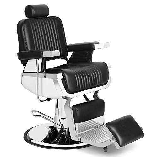 Barber Chair Reclining Hydraulic Barber Chairs Heavy Duty Styling Chairs for Salon Chair Tattoo...