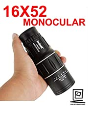 PIA INTERNATIONAL® 16 X 52 Telescope Monocular