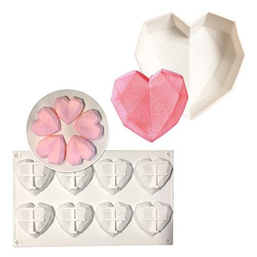 BrilliantDay 3D Herzform Form Silikonform Backformen Kuchen Dekorieren von Werkzeugen für Backform, Mousse Chiffon Gebäck Kuchen, Pfanne, Keks, Süßigkeiten, EIS, Gelee, Schokoladenkuchen