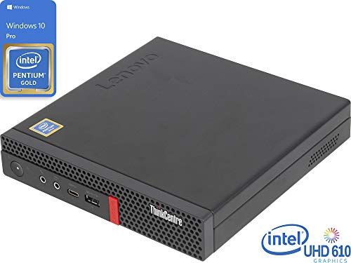 Lenovo ThinkCentre M720q Mini PC, Intel Pentium Gold G5400T 3.1GHz, 4GB RAM, 128GB NVMe SSD, HDMI, DisplayPort, Wi-Fi, Bluetooth, Windows 10 Pro