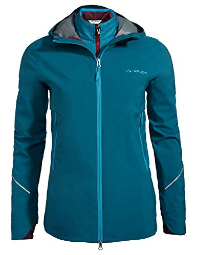 VAUDE Yaras 3in1 Veste Femme, Pacific, FR : XS (Taille Fabricant : 36)