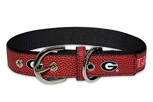 Pets First NCAA GA-3081-LG Georgia Bulldogs Premium Dog Collar, Limited Edition, Size Large. Best & Strongest Heavy-Duty Dog Collar!, Large (20-29