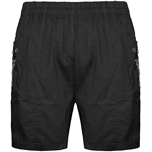 Damen-Shorts aus bequemem Stretch-Baumwoll-Mix, Flexi-Stretch, Übergrößen 36-52 Gr. 50, Schwarz