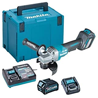 Makita GA029GD101 40V Max Li-ion XGT 125mm Brushless Angle Grinder Complete with 1 x 2.5 Ah Battery, Fast Charger and Interchangeable Adapter Set Supplied in a Makpac Case (B08KTFHY5V) | Amazon price tracker / tracking, Amazon price history charts, Amazon price watches, Amazon price drop alerts