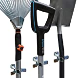 Shovel Holder Wall Mount, 10 Pack, Garden Tool Organizer for Garage, Broom Mop Holder Wall Mounted, Shovel Rack Wall Mount with Mounting Screws and Wall Anchors, Bonus 2 Garden Tool Hooks