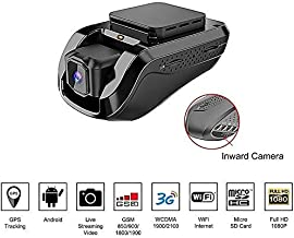 Dash Cam Car Video Recorders – Amacam AM-G10 with 3G Live Video Streaming to Your Phone Front Facing & Internal Camera Views GPS Vehicle Tracker in Real Time from Any Location. 16GB Card Included.