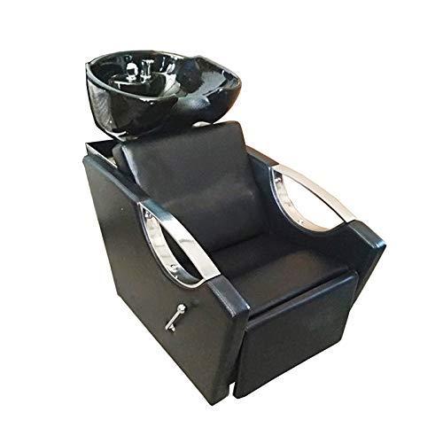 Lavacabezas con pica abatible y reposapies reclinable color negro Modelo L28N