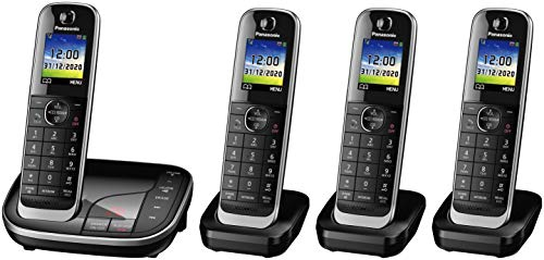 Panasonic KX-TGJ324EB Quad Handset Cordless Home Phone with Nuisance Call...