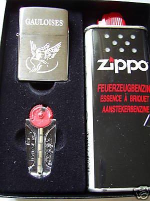 Zippo Feuerzeug Gauloises Grave Geschenk-Set