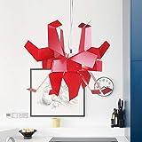Asncnxdore Personalidad Araña De Papel Mil Grullas Lámpara De Origami Creativa Arte Restaurante Dormitorio Estudio Lámpara Proyecto Luz De Techo (Color : Red)