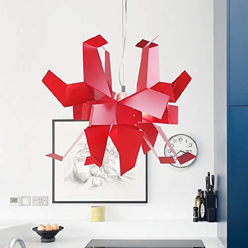 Personalidad Araña De Papel Mil Grullas Lámpara De Origami Creativa Arte Restaurante Dormitorio Estudio Lámpara Proyecto Luz De Techo Yang1mn (Color : Red)