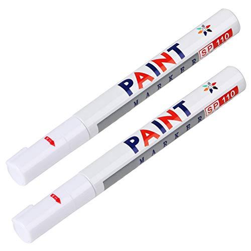 TRIXES Pack de 2 White Tyre Marker Paint Pen para neumáticos para Bicicletas y Coches Dan a los neumáticos Antiguos un Nuevo Aspecto Deportivo