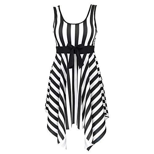 HULKY Vendita di Liquidazione Donne Un Costume da Bagno Sailor Striped Plus Size Costumi da Bagno...