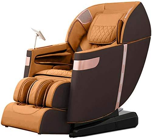 ZAMAX Silla de masaje inteligente, profesional Relax, gravedad cero, magnético, sistema de calor, sofá de masaje para personas mayores, oficina, hogar, silla de masaje para adultos (color: marrón)