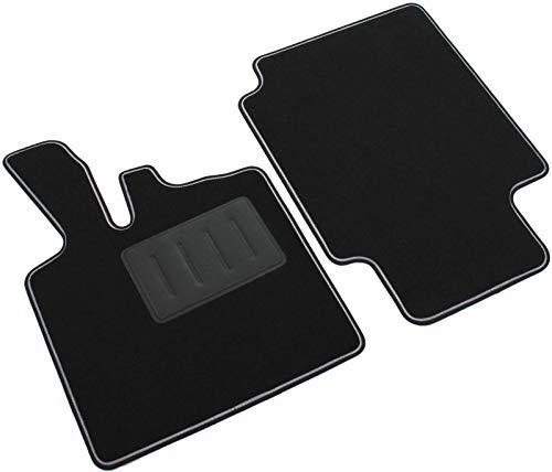 Das Teppich Auto, sprint04200, Fußmatten Teppiche Schwarz rutschfest, verstärkter Rand, zweifarbig, Absatzschoner aus Gummi, FORTWO W4501998> 2007.