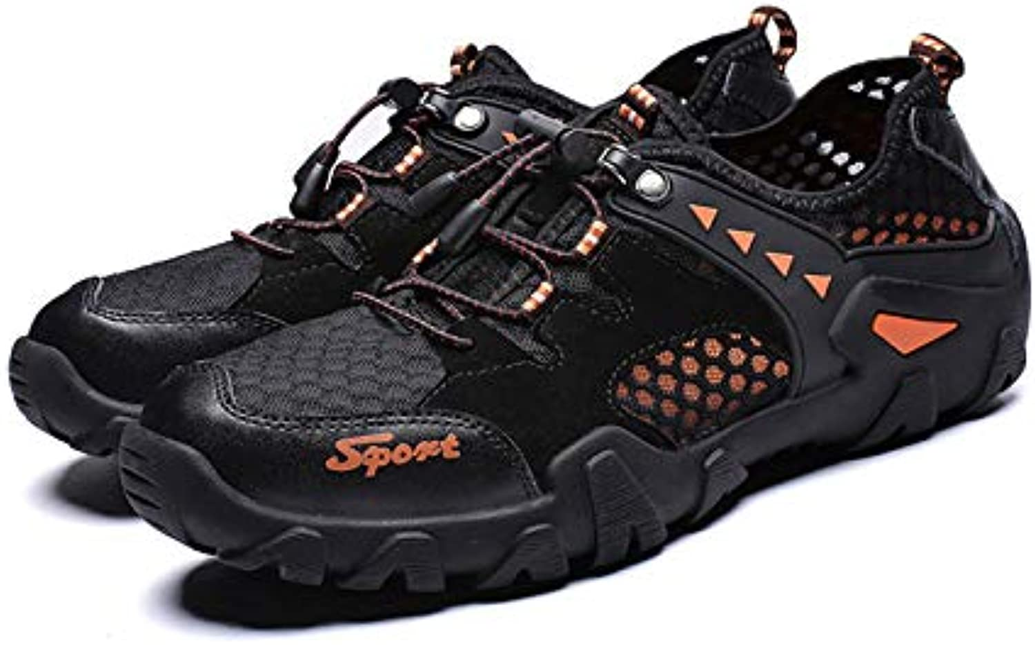 K-Flame Hiking shoes for Men's Outdoor Sport Casual Sandals Beach shoes Anti-skid Cross Country shoes for Trekking Walking Mesh Breathable Sneaker for Camping