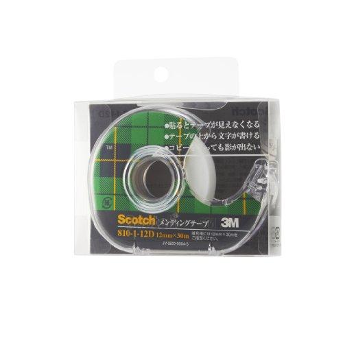 3M スコッチ テープ メンディングテープ ディスペンサー付 12mm×30m 小巻 810-1-12D