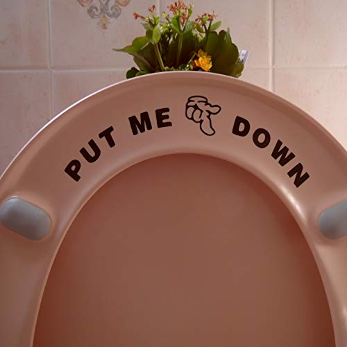 Hatcherabilia Fun  Put Me Down  Toilet Seat funny sticker Bathroom accessories