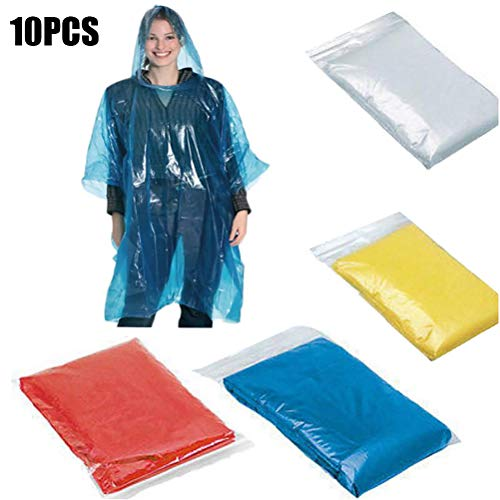 Sapphero 10 stks Randomly Hooded Raincoat Unisex Protective Clothing Lichtgewicht Gown