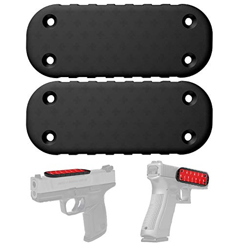 2-Pack Gun Magnet Mount,50 Lbs Magnetic Gun Mount / Holder, Works for Rifle,Pistol,Revolver, Airsoft, Shotgun, Concealed Your Firearm On Car,Truck,Wall,Safe,Desk,Vehicle by TFNUO (2-Pack Black)
