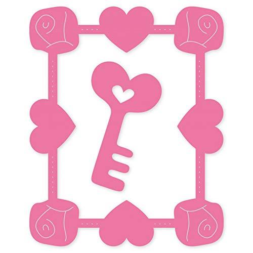Doe-het-zelf stansvorm metaal stansvormen roos hart sleutellijst sjablonen voor doe-het-zelf scrapbooking reliëf papier bruiloftskaart stempels maken handwerk voorhoofd