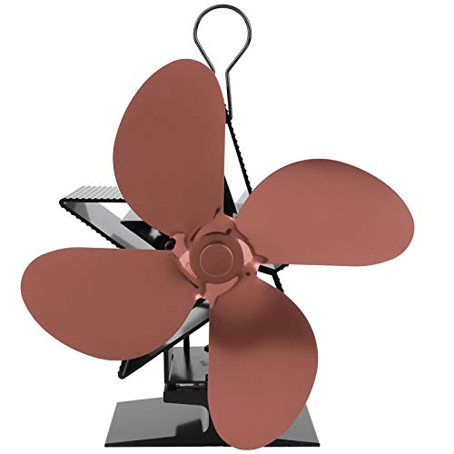 Ventilador de Calor, Ventilador de Calor para Chimenea, Ventilador de Estufa de leña, sin deformación Ventilador de Estufa, para distribución de Calor en el(Bronze)